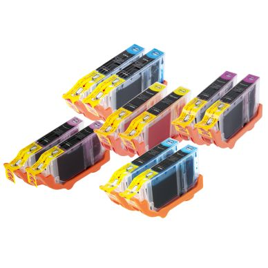 inkClub Multipack, 10 bläckpatroner, 2x(C/M/Y/PC/PM)