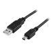 DELTACO USB 2.0 kabel Typ A Hane - Typ Mini B Hane 1m, svart