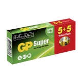 GP Super Alkaline AAA 5+5