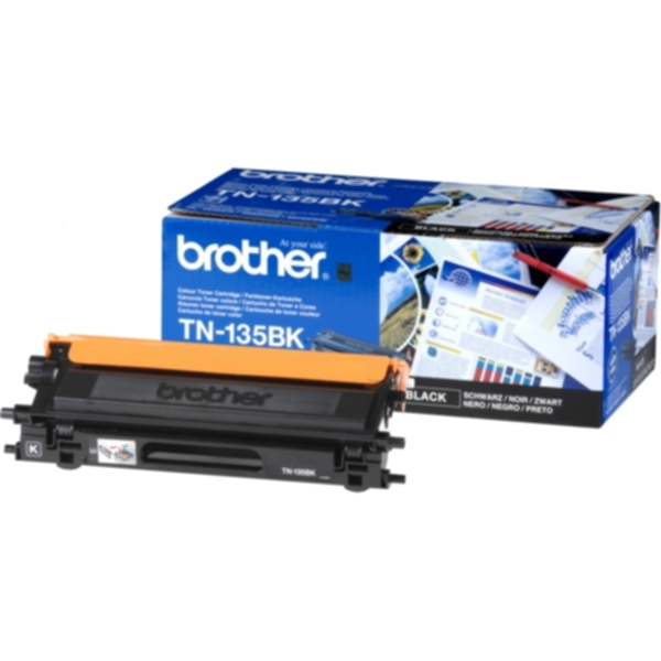 Pris på Brother Tonerkassett sort 5.000 sider, høy kapasitet TN-135BK Tilsvarer: N/A