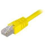 DELTACO U/UTP Cat6 patchkabel 10 m, gul