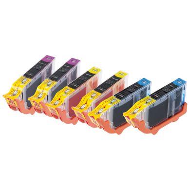 inkClub Multipack, 6 bläckpatroner, 2x(C/M/Y) KCB10-6 Motsvarar: N/A