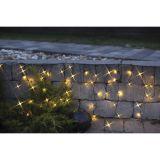 Lyslenke LED istapp 144 lys 4 m svart kabel varmhvit