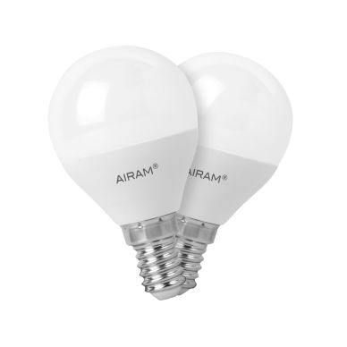 Bild AIRAM Airam LED lampe in ballform E14, 5W 2-pack