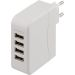 DELTACO USB-ladestasjon, 4 USB-porter, 5,4A