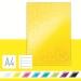 Anteckningsbok Leitz WOW A4 linj. m. hårt oms. 90g/80ark gul