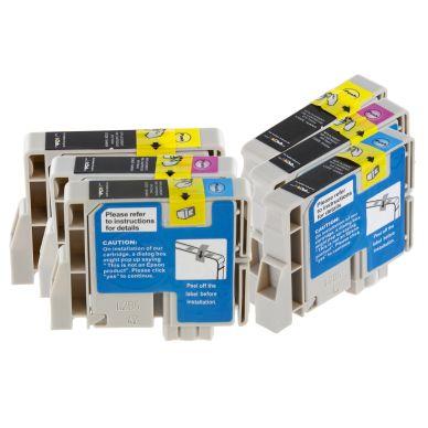 inkClub Multipack, 6 bläckpatroner, 2x(C/M/Y)