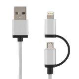 DELTACO USB synk/opladekabel 2 m, Lightning/USB micro-B, MFI