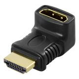 DELTACO HDMI-adapteri, 19-pin uros-naaras, kulma