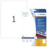 Etikett HERMA Folie vit A4 210x297 (25)