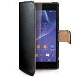 Celly Portemonnee hoes Xperia Z2 Zwart/Beige