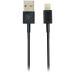 DELTACO synkr./latausjohto, 1 m, MFI, USB-Lightning, musta
