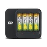 GP Batteriladdare PB550 inkl 4 st 2600 mAh, 12 V laddkabel