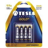 Tesla Gold+ AAA 4-pack
