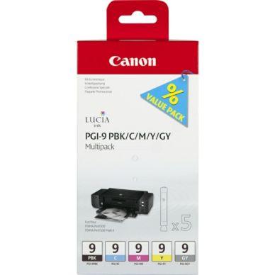 CANON CANON PGI-9 Multipack PBK/C/M/Y/GY Bläckpatroner 1034B013 Motsvarar: N/A