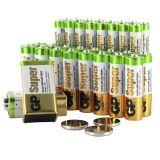 Batteripaket, 37 st batterier för hem och kontor.