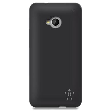 Belkin Grip Sheer Matte, TPU shell for HTC One, black