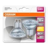 OSRAM LED Star PAR16 2,6W/827 GU10 2-Pakk