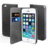 Muvit Wallet Case iPhone SE Svart