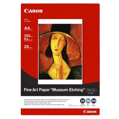 CANON Fotopapir Museum Etching, A4, 20 ark, 350gr