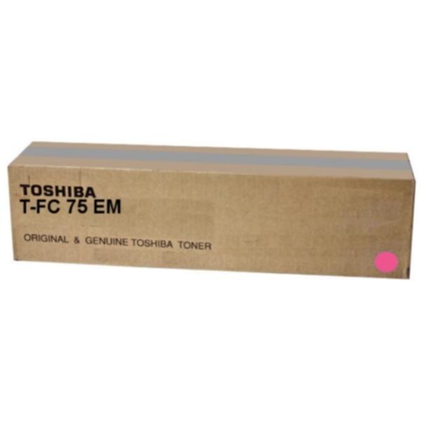 Pris på TOSHIBA Tonerkassett magenta 35.400 sider T-FC75EM Tilsvarer: N/A