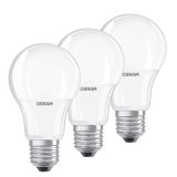 Osram LED STAR Normaali, E27, 9W 3-pack