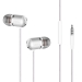 Champion Headset In-Ear Vit Metallic