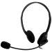 DELTACO, headset med mikrofon och volymkontroll 2m kabel