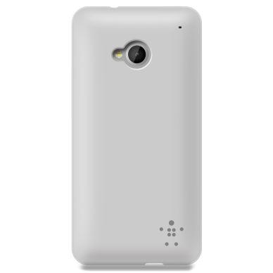 Belkin Grip Sheer Matte, TPU shell for HTC One, transparent