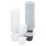 Kaffekop plast 21cl hvid, 50 stk.