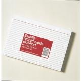 Kortistokortti A5 100 kpl 2-väri viivat