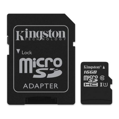 KINGSTON Kingston memory card 16GB,microSDHC,SDHC-adapter,Class 10