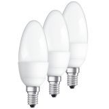 Osram LED STAR Kron, E14, 5,3W 3-pack