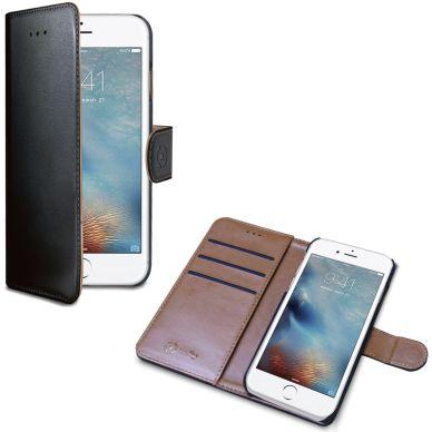 Celly Wally Wallet Case iPhone 7 Plus Svart/Brun