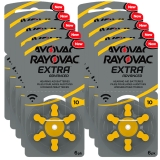 Rayovac Extra Advanced ACT 10 gul 10-pakk