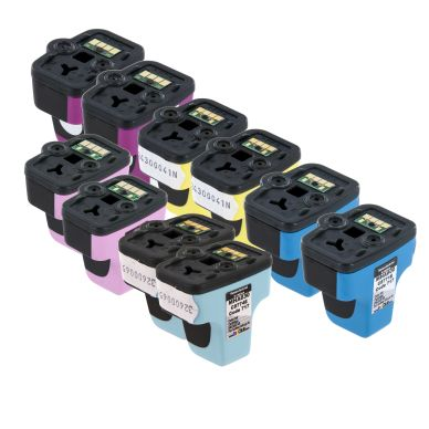 inkClub Multipack, 10 bläckpatroner, 2x(C/M/Y/PC/PM) MHA6-10 Motsvarar: C8775