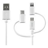 DELTACO USB/Lightning-synk-/laddkabel, MFi, 1m