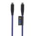 Xtorm Solid blå USB-C-USB-C, 1 m Kevlar