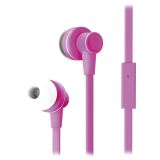 Native Sound NS-3, in-ear headset, 1,2m kabel, rosa