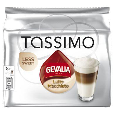 Tassimo Tassimo Latte Macchiato Less sweet kaffekapsler, 8 port.