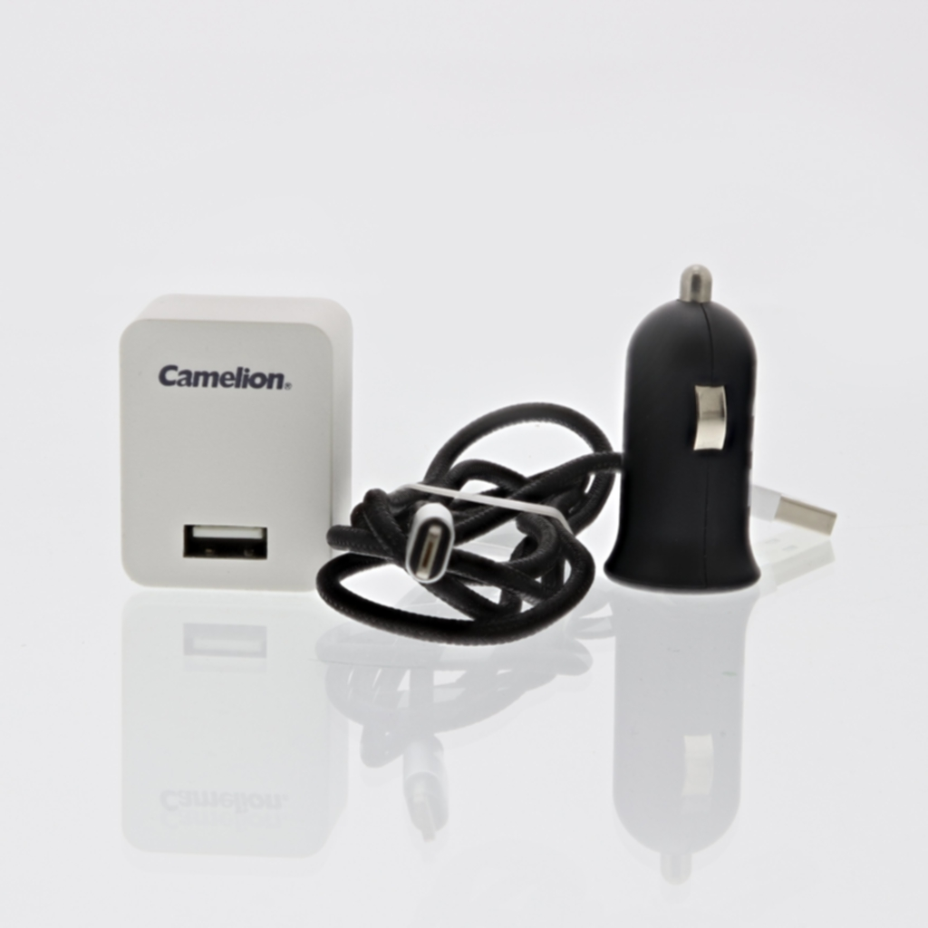 Camelion USB-laddare Lightning Apple och Micro-USB 230/12V