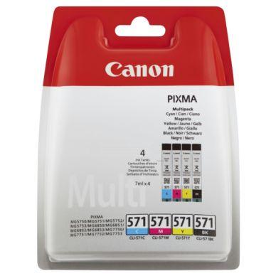 CANON CLI-571, Multipack bläckpatroner, 4 x 7 ml 0386C005 Motsvarar: N/A