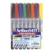 Märkpenna Artline EK-041T Twin Marker set med 8 färger