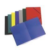 Elastikmappe plast A4 blå