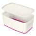 Oppbevaringsboks Small Leitz MyBox® m/lokk Hvit/Rosa