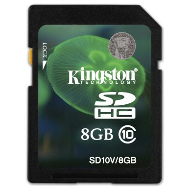 KINGSTON SDHC memory card, 8 GB Class 10