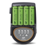 GP Batteriladdare H500 inkl 4 st 2600 mAh