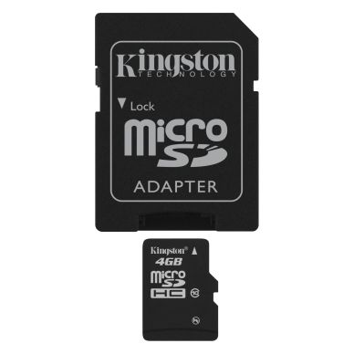KINGSTON Kingston memory card 4GB,microSDHC,SDHC-adapter,Class 10