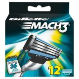 Gillette Mach3 12 stk barberblad