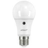 Airam LED-lamppu hämärätunnistimella 10W/827 E27